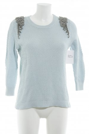 Topshop Knitted Sweater turquoise casual look