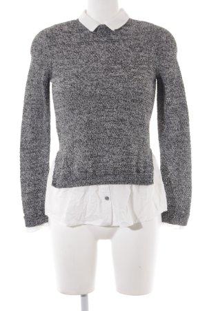 Topshop Strickpullover weiß-schwarz Casual-Look
