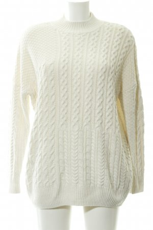 Topshop Strickpullover wollweiß Casual-Look