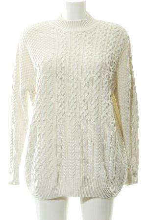 Topshop Pull tricoté blanc cassé style décontracté
