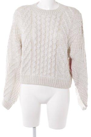 Topshop Pull tricoté blanc cassé-crème torsades molletonné