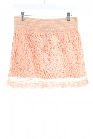 Topshop Strickrock apricot Blumenmuster Beach-Look