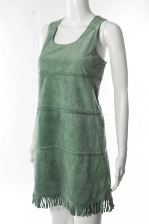 Topshop Suede Dress Green im Bohemian Pocahontas look