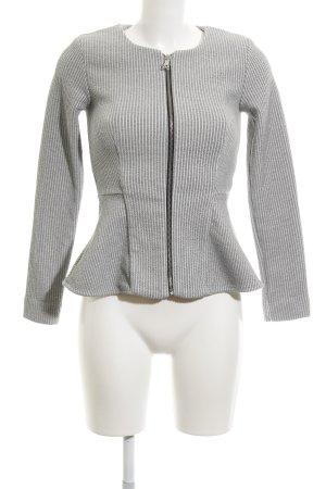 Topshop Blazer de tela de sudadera gris rayas horizontales estilo «business»