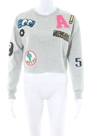 Topshop Sweatshirt hellgrau Casual-Look