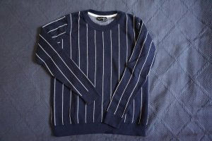 Topshop Knitted Sweater dark blue-white