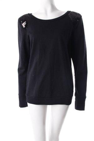 Topshop Sweatshirt schwarz mit Pailletten