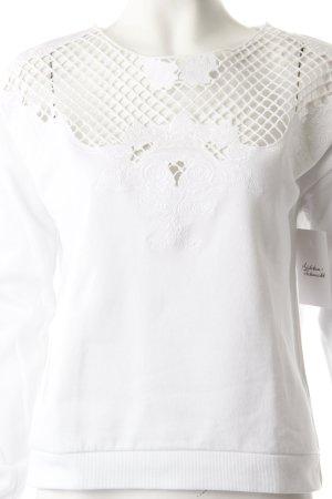 Topshop Sweatshirt weiß