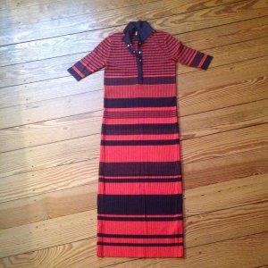 Topshop, T-Shirt-Kleid, blau-rot gestreift