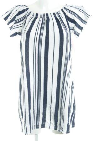 Topshop T-Shirt weiß-dunkelblau Streifenmuster Casual-Look