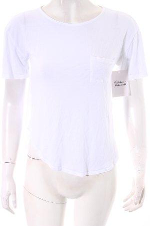 Topshop T-Shirt weiß klassischer Stil
