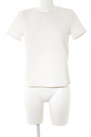 Topshop T-shirt wit quilten patroon casual uitstraling