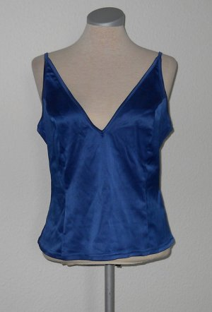 Topshop Top Gr. UK 14 42 Träger Oberteil royal blau