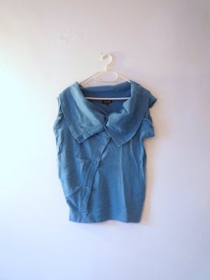 Topshop Knitted Top cornflower blue cotton