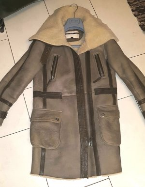 Topshop Top Shop Sheepskin Fell Leder Mantel Coat like Burberry Top Zustand