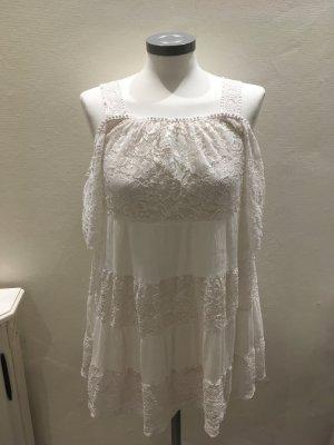 Topshop Camicia lunga bianco Tessuto misto