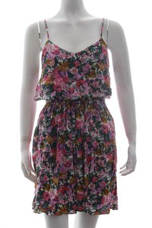 Topshop Trägerkleid dunkelgrün-pink Blumenmuster Romantik-Look