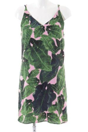 Topshop Trägerkleid grün-pink florales Muster Casual-Look