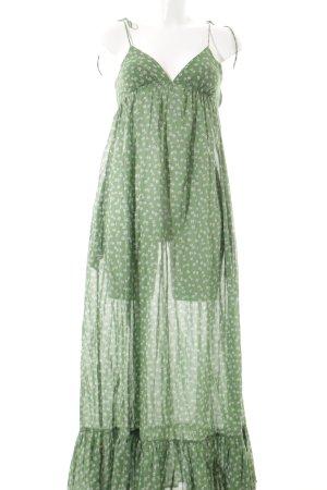 Topshop Trägerkleid grün-weiß Blumenmuster Beach-Look