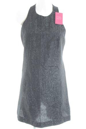 Topshop Trägerkleid schwarz-silberfarben Metallic-Optik