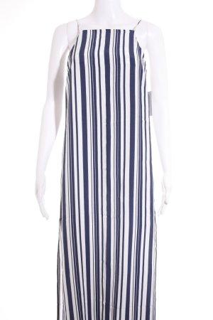 Topshop Vestido tipo overol blanco-azul estampado a rayas estilo naval