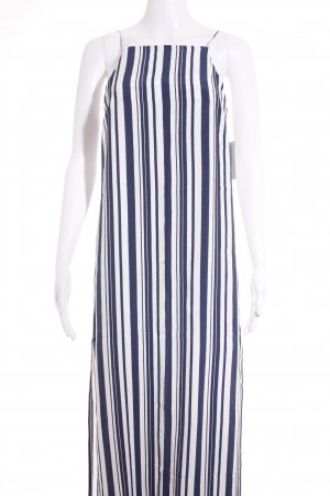 Topshop Pinafore dress white-blue striped pattern navy look