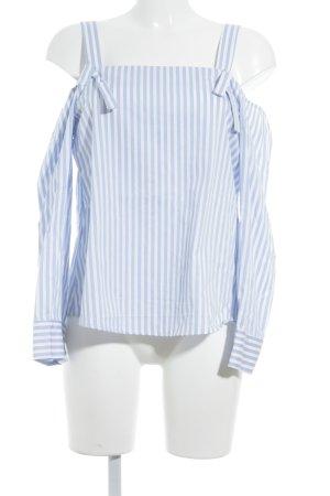 Topshop Tunikabluse himmelblau-weiß Streifenmuster Street-Fashion-Look