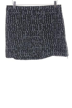 Topshop Falda Tweed negro-blanco Patrón de tejido look casual
