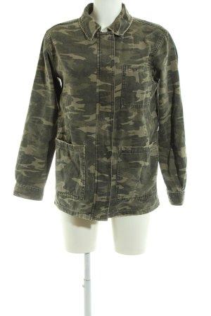 Topshop Veste mi-saison kaki motif de camouflage style décontracté