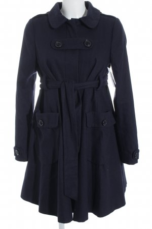 Topshop Between-Seasons-Coat dark blue casual look