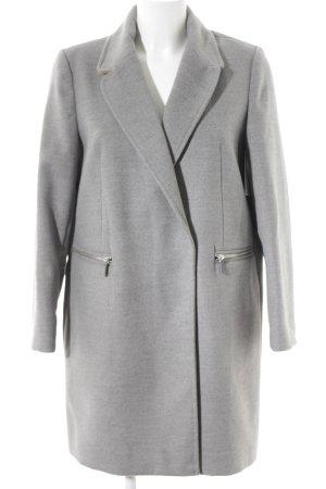 Topshop Between-Seasons-Coat grey flecked classic style