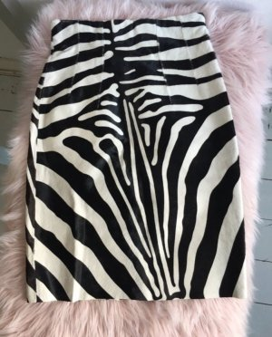 Topshop Leather Skirt black-natural white