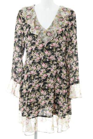 Topshop Volante jurk bloemenprint romantische stijl