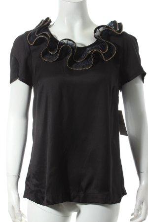 Topshop Volanttop schwarz extravaganter Stil