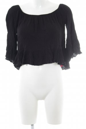 Topshop Flounce Top black athletic style