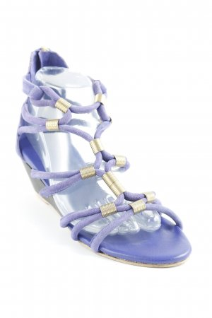 Topshop Wedges Sandaletten blau Casual-Look