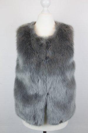 Topshop Weste Fellweste Gr. 34 grau Faux Fur