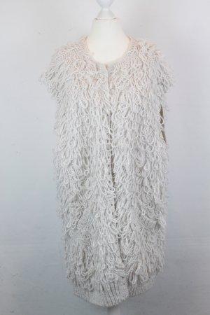 Topshop Smanicato lavorato a maglia crema-bianco Tessuto misto