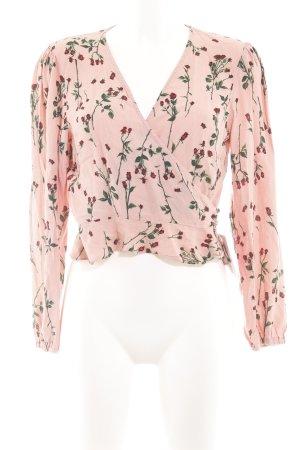 Topshop Wickel-Bluse Blumenmuster Casual-Look