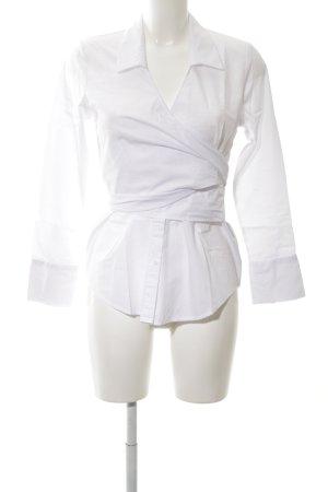 Topshop Wraparound Blouse white business style