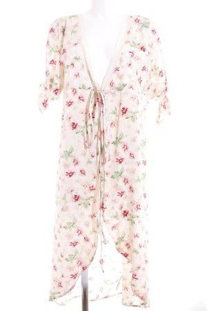 Topshop Vestido cruzado estampado floral estilo de lencería