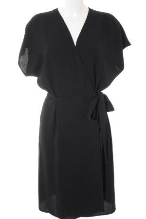 Topshop Vestido cruzado negro elegante
