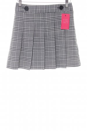 Topshop Wraparound Skirt black-white check pattern elegant