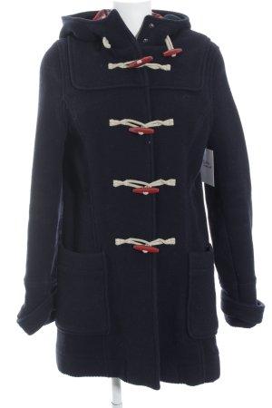 Topshop Giacca di lana blu scuro-rosso stile atletico