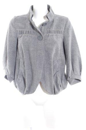 Topshop Wolljacke grau-schwarz meliert Romantik-Look