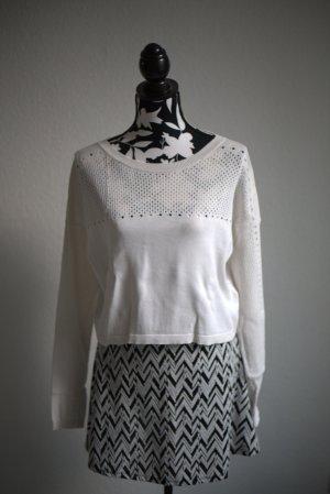 TopShop x Kate Moss Longsleeve Weiss Pullover Damen