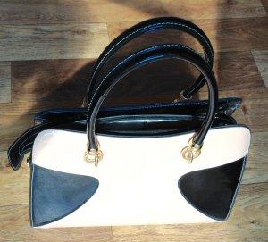 Fashion natural white-black imitation leather