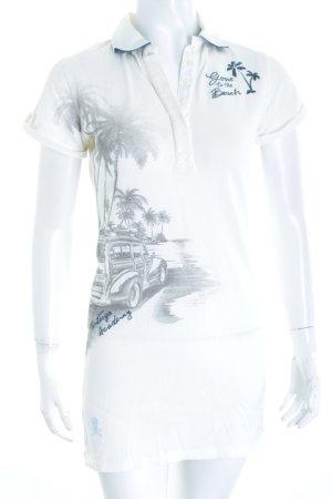 Tortuga Academy Polo-Shirt wollweiß Motivdruck sportlicher Stil