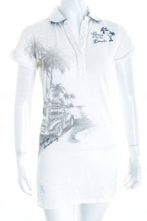 Tortuga Academy Polo shirt wolwit prints met een thema atletische stijl