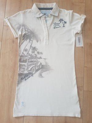 Camiseta tipo polo blanco puro-color plata Algodón